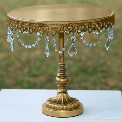 Gold Chandelier Cake Stand