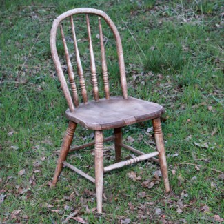 Rustic Wood Childs Chair