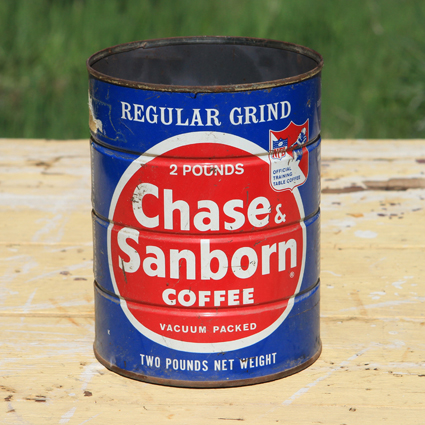 Chase & Sandborn Coffee Tin