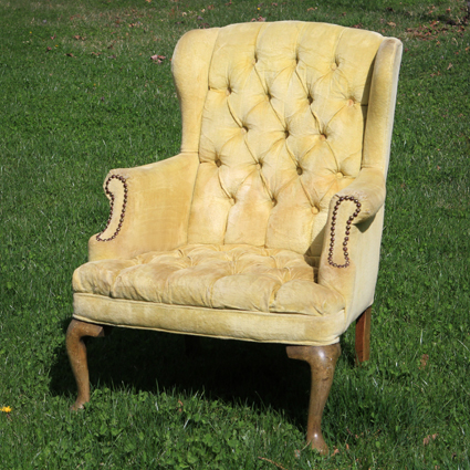 Griffith Marigold Tufted Highback Chair Forever Vintage Als - High Back Antique Chair - Best 2000+ Antique Decor Ideas