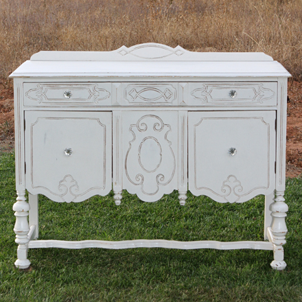 Rebecca-Decorative White Buffet