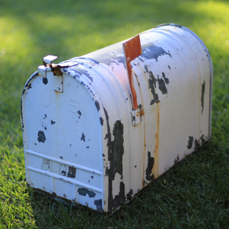 Large White Country Mailbox