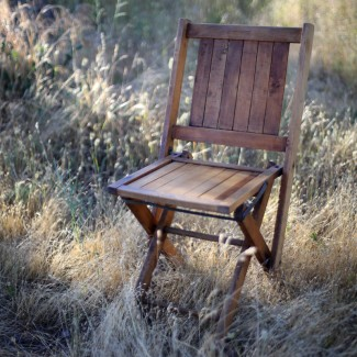 Vintage Mismatched Folding Wood Chairs
