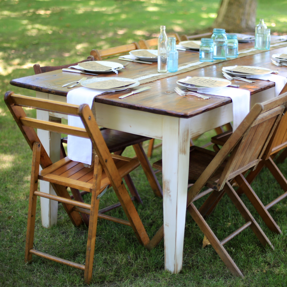 Hand crafted rustic farm tables sacramento antique table for Table rentals