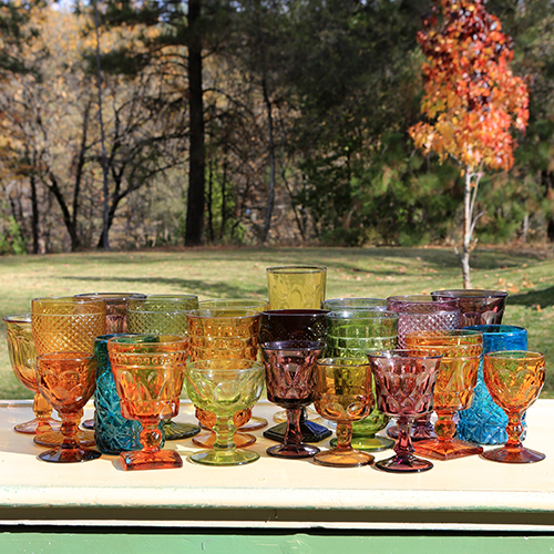 Mis-Matched Colored Goblets