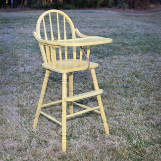 Vintage Yellow High Chair