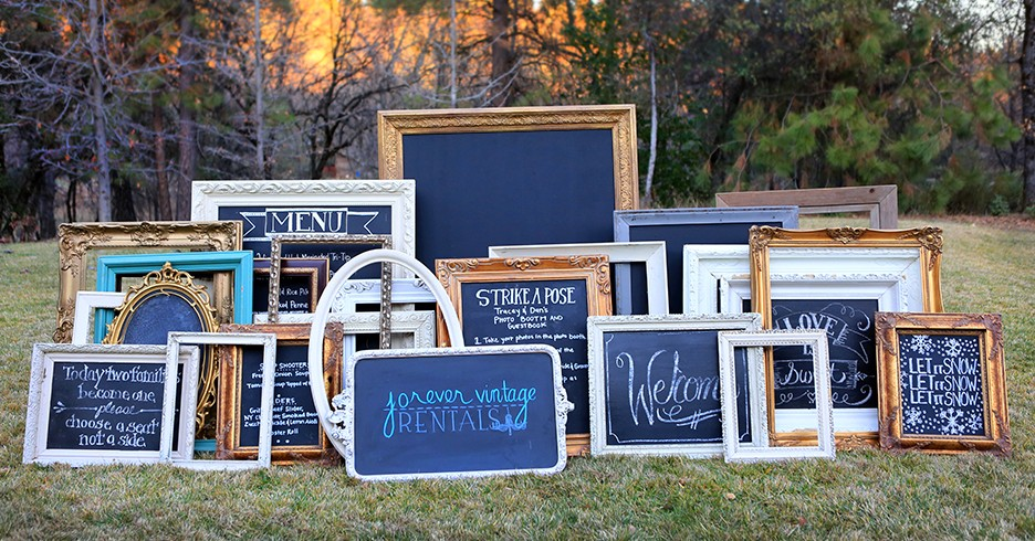 Custom Signage and Vintage Frames