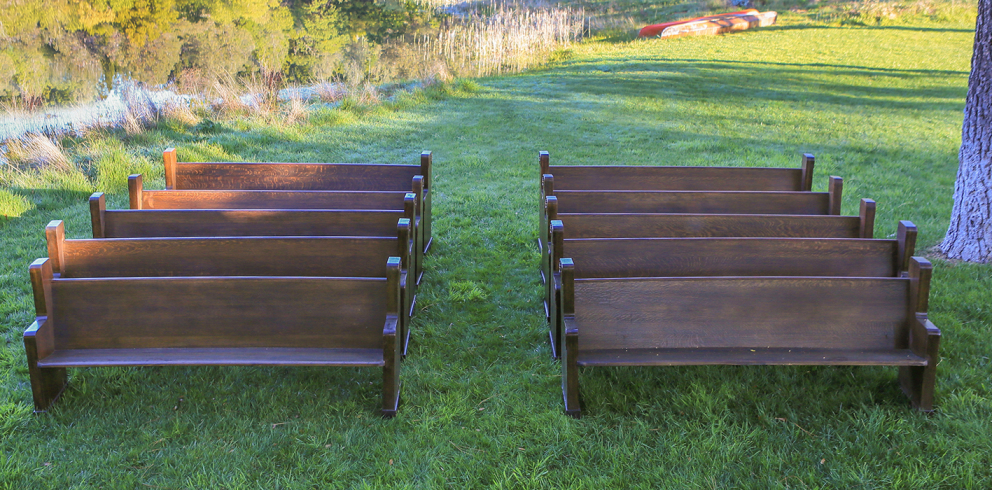 American Walnut Church Pews