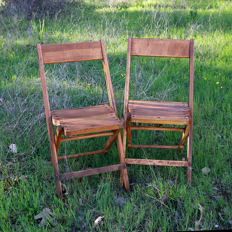 vintage wood folding chairs forever vintage rentals