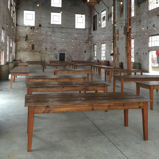 Delicieux Handcrafted Breanna Walnut Stained Farm Tables